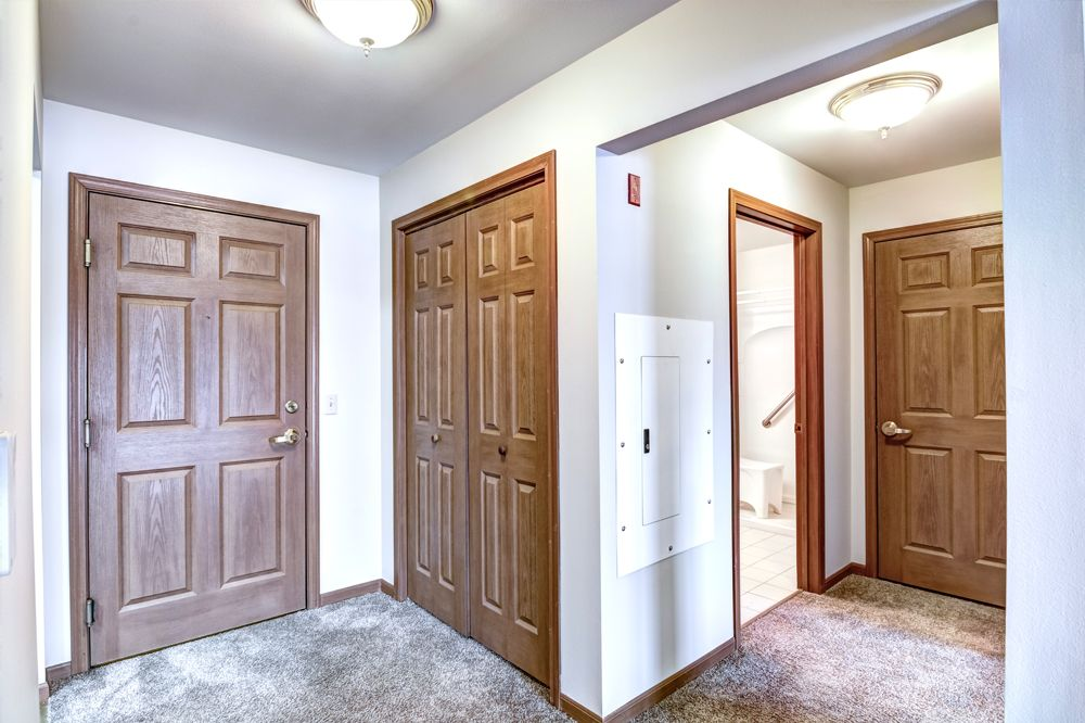room facing closet and halway to bathroom
